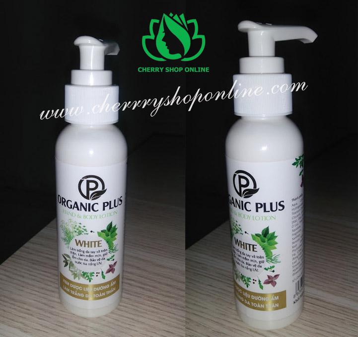 Kem dược liệu dưỡng ẩm làm trắng da toàn thân Organic Plus