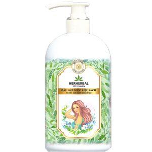 Dầu gội dược liệu sạch Herherbal – Giảm gãy rụng, tối ưu cho tóc da đầu hói rụng – 186 g